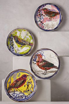 OH MY!!!! Dreambirds Dessert Plate - anthropologie.com