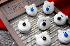Creating a winter fun treat doesn't have to be expensive or complicated. These adorable polar bear cookies are fun to make and require very little effort!