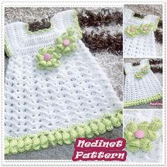 Crochet baby dress pattern crochet baby clothing pattern