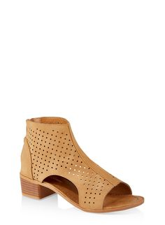 c0f02ebbe0 Girls 11-4 Perforated Cut Out Booties - Brown - Size 4