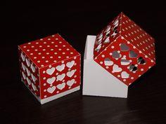 Mini hearts favour box