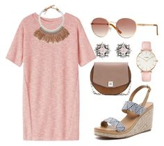 """""""Summer Look #8"""" by ada-vsekaknado on Polyvore featuring Toast, Walnut Melbourne, Fiona Paxton, GUESS, Zara, CLUSE, DANNIJO, women's clothing, women's fashion and women"""
