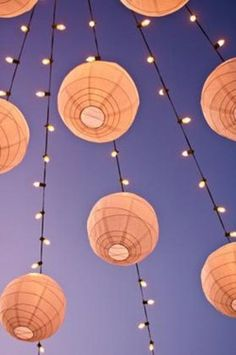Love this Tangled inspired lights idea for the reception.