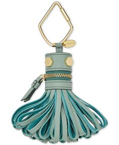 Create a personal style that's all your own with Fossil's clip-on monster tassel, fashioned in chic leather with bright golden details. | Leather | Imported | Clip-on attachment | Monster tassel desig