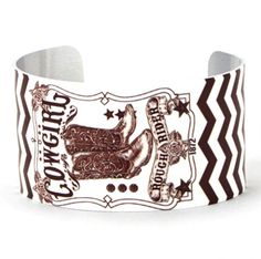Sass up your Rustic wardrobe with this stylish western cuff.  Make a statement just by slipping on this beauty of a bracelet. COWGIRL ROUGH RIDER WHITE AND BROWN CUFF BRACELET $21.99 www.nanascountryrusticshop.com www.facebook.com/nanascountryrusticshop #country #western #cowgirl #jewelry #cuffbracelet #newlylisted