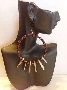 African Inspired with  Natural Golden Lip by UniqueDesignsbyZee, $40.00