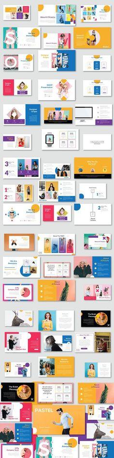 Presentation Templates - Keynote - Ideas of Keynote - Pastel Modern Minimal Keynote. Design Presentation, Business Presentation, Presentation Templates, Keynote Presentation, Presentation Folder, Web Design, Book Design, Layout Design, Mise En Page Web