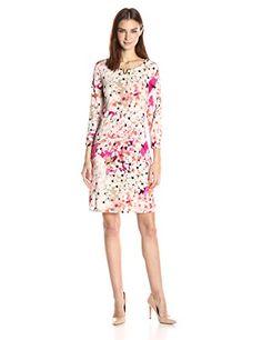 Calvin Klein Women's 3/4 Sleeve Dress with U Hardware, Ro... https://www.amazon.com/dp/B01NBINQBZ/ref=cm_sw_r_pi_dp_x_7tCVybTPBE925