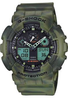 G-Shock GA-100MM Marble Camo Green