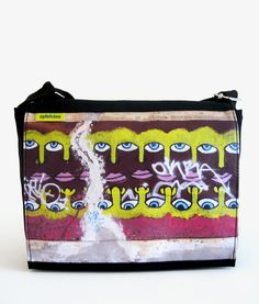 Apfelsina Schoulder Bag Misty.  This handmade Bag shows a street art painting in Berlin.   Now available at our online store.  http://www.apfelsina.de