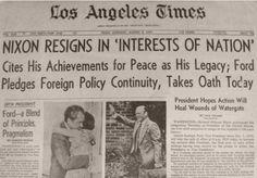9 de agosto de 1974. Los Angeles Times.