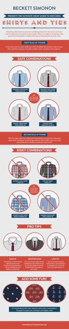 Como combinar tu camisa con tu corbata  perfect