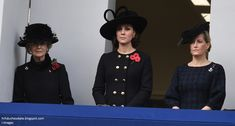 The Duchess of Cambridge watched the ceremony from the balcony of the Foreign Office in Whitehall with Princess Alexandra and The Countess of Wessex.