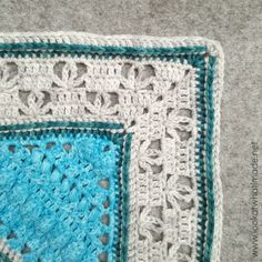 Charlotte and Banksia Border - free crochet edging pattern by Dedri Uys at Look At What I Made. Granny Square Crochet Pattern, Crochet Borders, Crochet Chart, Love Crochet, Diy Crochet, Crochet Edgings, Crochet Afghans, Beautiful Crochet, Crochet Ideas