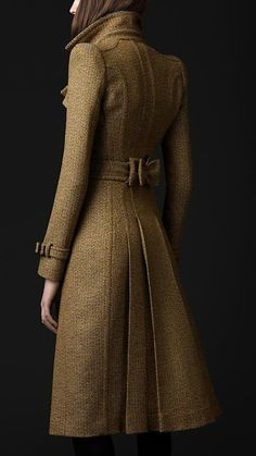 Tailored Wool Trench Coat.