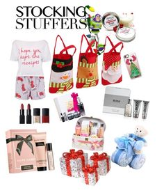 """""""stuffing stocking"""" by cupcakekisss ❤ liked on Polyvore featuring Hallmark, Boohoo, Casetify, Lancôme, NARS Cosmetics, HUGO, Ralph Lauren and National Tree Company"""