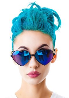 Bright teal - turquoise blue #hair #bright #dyed #coloured