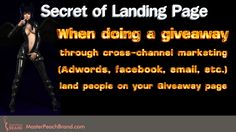 Cross-channel marketing campaign should land people on your giveaway Landing page. Click on Visit to read more...