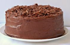 Milk and Honey: Chocolate Layer Cake with Chocolate Cream Cheese Frosting No Bake Desserts, Delicious Desserts, Dessert Recipes, Yummy Food, Cake Cookies, Cupcake Cakes, Chocolate Cream Cheese Frosting, Chocolate Cake, Honey Chocolate