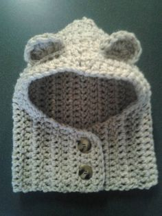Adorable Hooded Cowl by WheatonsCreations on Etsy, $25.00