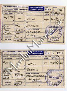 Vintage Airplane ticket