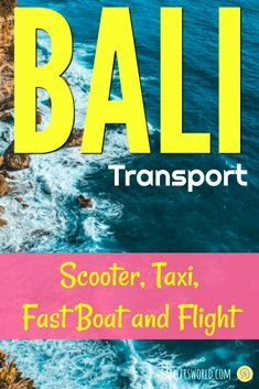 Bali transport guide details all ways, prices of taxi, car rental, fast boat and flights to travel to Bali and how to visit the Gili, Lombok & Java Islands. Bucket List Before I Die, Plan My Trip, Fast Boats, Cheap Holiday, Packing List For Travel, Bali Travel, Car Rental, Romantic Travel, Vacation Trips