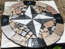 Custom Made Recycled Granite Compass Rose Pavers