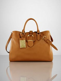 Calfskin Equestrian Zip Tote - I m so obsessed with Ralph Lauren handbags  right now bc8cd8aee6c
