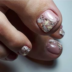 Pretty Toe Nails, Cute Toe Nails, Pretty Toes, Toe Nail Art, Gel Nails, Nail Polish, Toenails, Gel Toes, Pedicure Designs