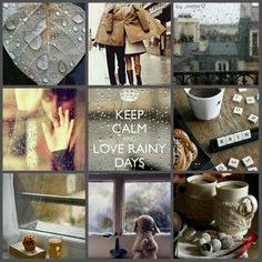 Love rainy days. #moodboard #mosaic #collage #byJeetje♡