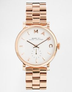Marc Jacobs   Marc Jacobs Baker Rose Gold Watch MBM3244 at ASOS
