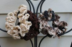 Shades of Brown Scrunchies Set of 3  tan dark by AMedleyofJen, $9.00