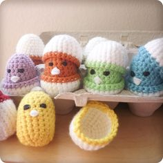 Crochet chicks and egg shells for them?