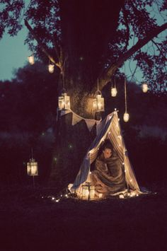 When I get married I want lots of these set up for the children to have adventures in while all the grown ups party!