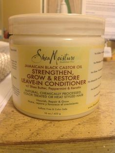 *yaaaaaaaaaaaassssssssssssss* Shea Moisture Jamaican Black Castor Oil Leave in Conditioner