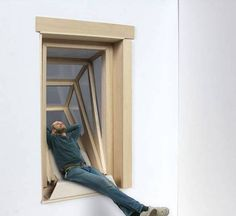"""For many apartment dwellers a balcony is but a dream, yet with this new fold out window it could well become reality. Architect Aldana Ferrer Garcia, who is based in Brooklyn, NY, has come up with the so-called """"More Sky"""" window system, which can be installed in place of existing windows."""