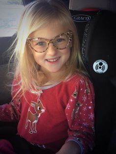 """""""Christmas Jammie's in October and glasses for no reason"""" haha Clara"""
