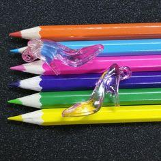 5 PCS - Clear Pink Shoe Slipper Shoe Princess Acrylic Resin Pendant Charm C0857
