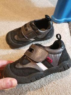 ae8ad2b6847e Koala kids Toddler boy shoes size 8 black and gray with white stripe   fashion
