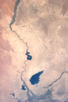 The Euphrates River, Iraq.  Taken July 6, 2013.  KN from space.