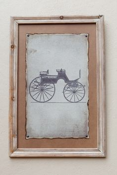 Natural Framed Print Carriage II