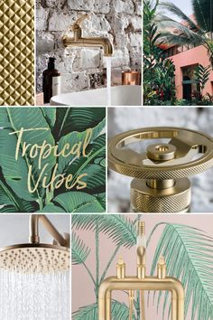 Create a tropical-themed bathroom with Crosswater.