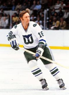 Bobby Hull finished out his NHL career as a member of the Hartford Whalers. Hockey Goalie, Hockey Games, Ice Hockey, Hartford Whalers, Bobby Hull, Stars Hockey, Star Wars, Hockey Stuff, Vancouver Canucks