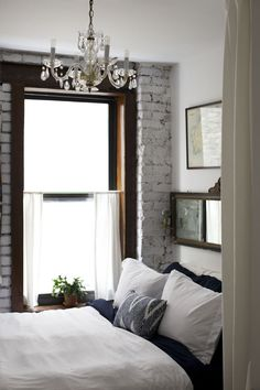 beautiful and naturally brightened bedroom