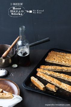 3-ingredient Beer Bread Sticks (or Pizza Dough! OMFG) (No-Knead, No-Rise)