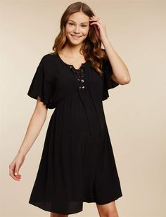 f4501d3f884 Jessica Simpson Motherhood Maternity Lace Up Maternity Dress