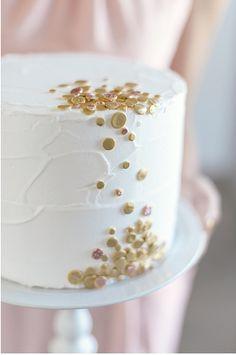 gold confetti cake!