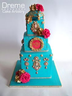 Home - Dreme Cake Artistry - Custom cakes, cupcakes, cookies and more! Indian inspired wedding cake