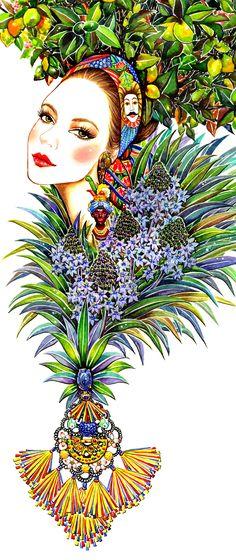 Dolce & Gabbana Illustration Project for SWIDE Magazine - Sunny Gu #fashion #illustration #fashionillustration