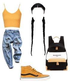 """Untitled #193"" by aikoedith on Polyvore featuring Topshop, Levi's, Vans and Balenciaga"
